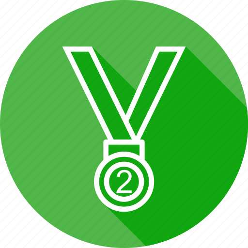 award, medal, position, second, silver, trophy, winner icon