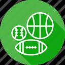 basketball, cricket, football, game, play, sport, tennis icon