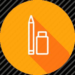 erase, eraser, pen, pencile, sketch, tool icon