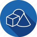 circle, cylinder, design, geometry, round, shape icon