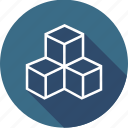 design, fashion, geometry, multiple, shape, square, view icon