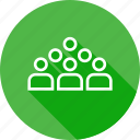 class, communicatioon, education, group, room, student, study icon