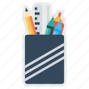 marker, pencil, rule, scale, sketchpen, stationary icon