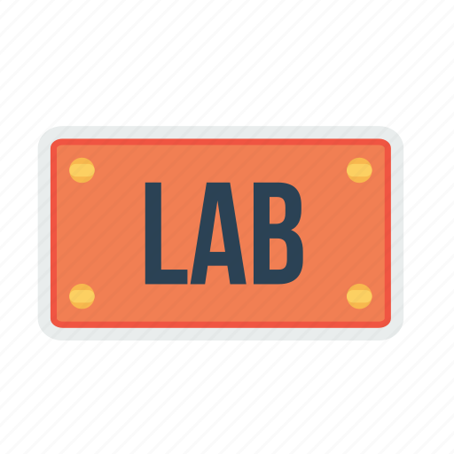 board, lab, nameplate, plate, room, school, study icon
