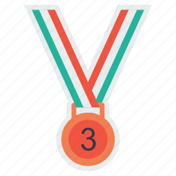 award, bronze, medal, third, trophy, winner icon