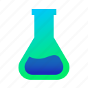 chemistry, flask, study, test