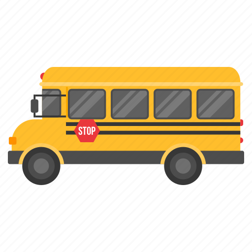 bus, car, education, school, side, transport, vehicle icon