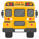 back, bus, education, school, transport, vehicle icon