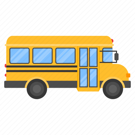 bus, education, school, study, transport, transportation, vehicle icon