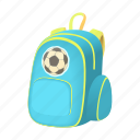 backpack, bag, cartoon, education, pack, school, student