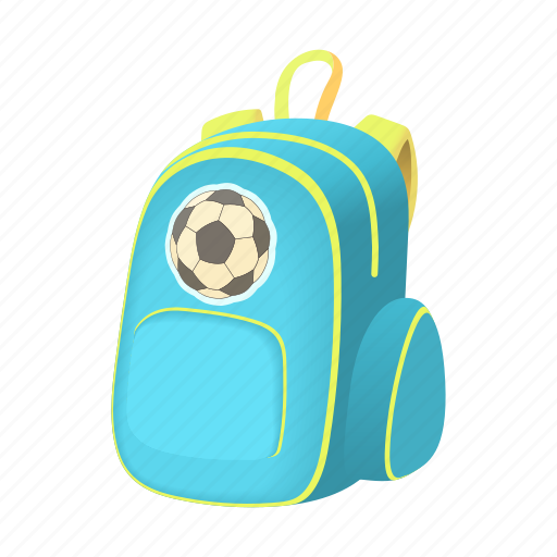 backpack, bag, cartoon, education, pack, school, student icon
