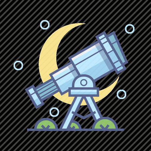 astronomy, school, telescope icon