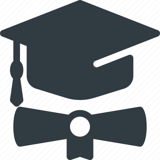 certificate, day, diploma, graduation, hat, school, success icon