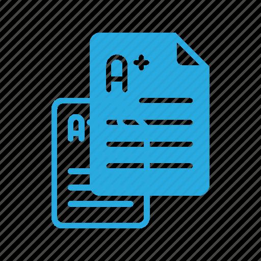 document, education, exam, school, studying, test icon