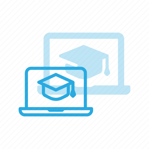course, elearning, laptop, learning, online, video icon