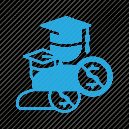 education, graduation, money, scholarship, school icon