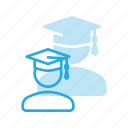 student, study, studying, user icon