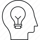 creative, idea, innovation, mind icon