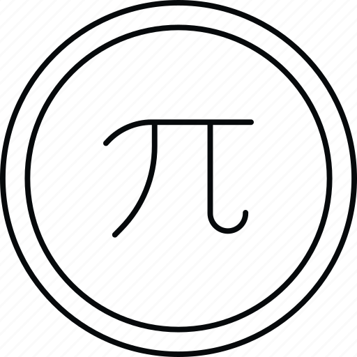 algebra, mathematics, pi, sign icon
