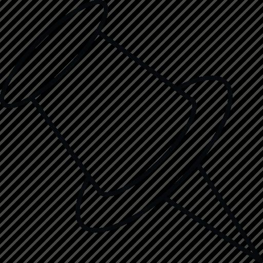 pin, pushpin, stationary, thumbtack icon