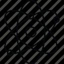 atom, electron, molecule, science icon