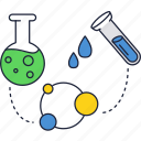 chemisrty, education, experiment, flask, reagent, school icon