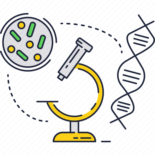 Bacteria, biology, dna, microscope, science, virus icon - Download on Iconfinder