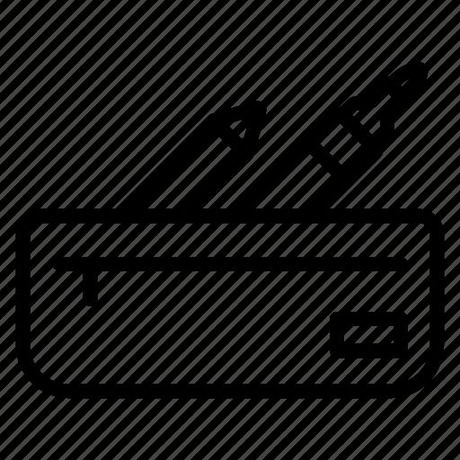 case, equipment, pencil, school, stationary icon