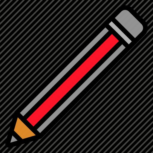 edit, equipment, pencil, school, write icon