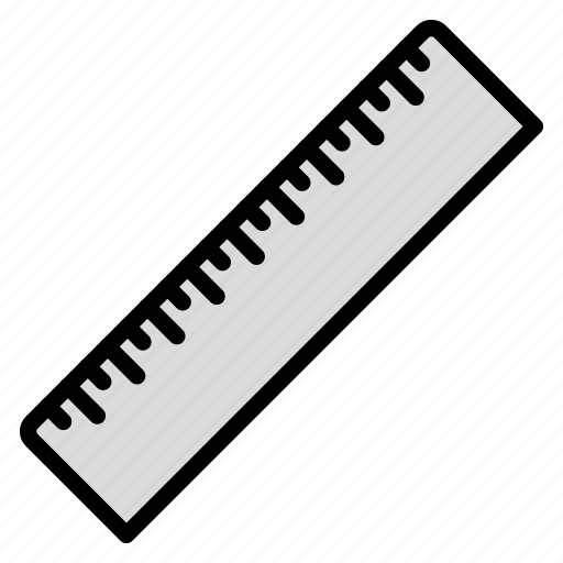 equipment, measure, ruler, school, size icon