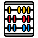 abacus, count, equipment, math, school icon
