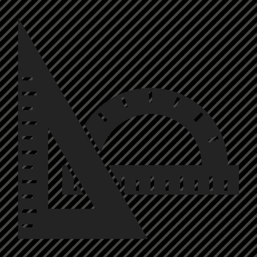 protractor, ruler, scale icon