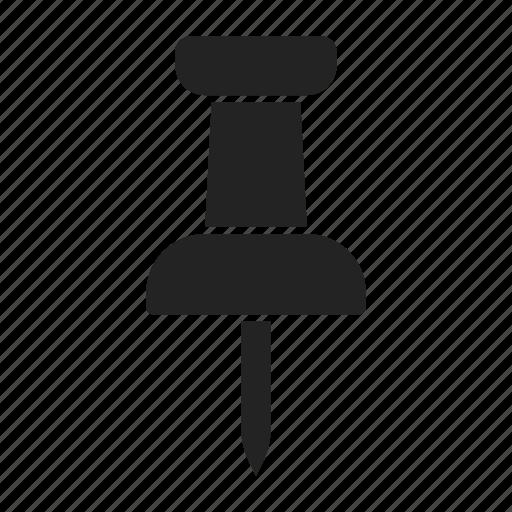 pin, pushpin, thumbtack icon