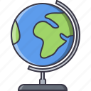 college, earth, globe, learning, planet, school, university icon