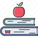 apple, book, college, learning, school, university icon