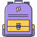 backpack, college, learning, school, university icon