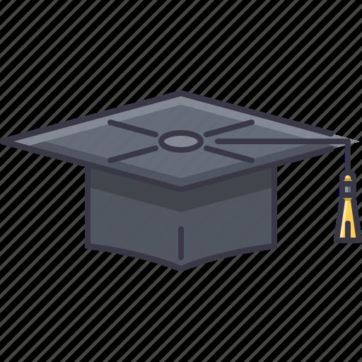 cap, college, graduate, learning, school, student, university icon