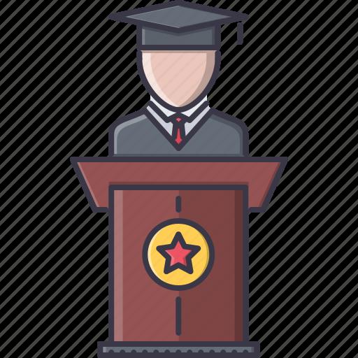 college, graduate, learning, school, student, university icon