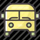 bus, school, transport, van icon