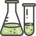 chemistry, education, experiment, flask, test tube icon