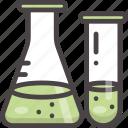 chemistry, education, experiment, flask, test tube