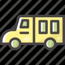 bus, school, schoolvan, transport, van