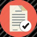 accept, add, audit, check, checklist, checkmark, document