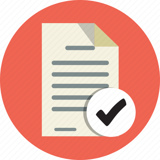 accept, add, audit, check, checklist, checkmark, document icon