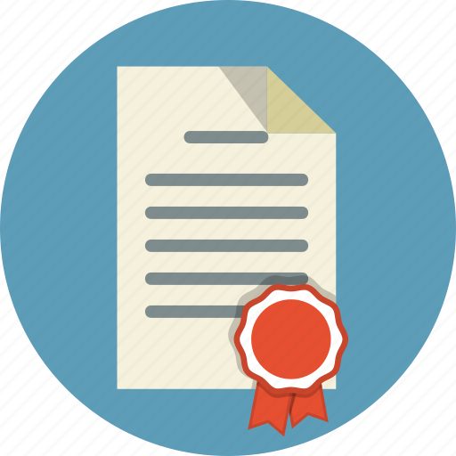 attest, authorize, award, best, certificate, diploma, document icon
