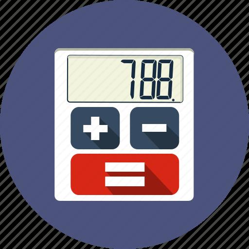 calc, calculate, calculator, education, math, school icon