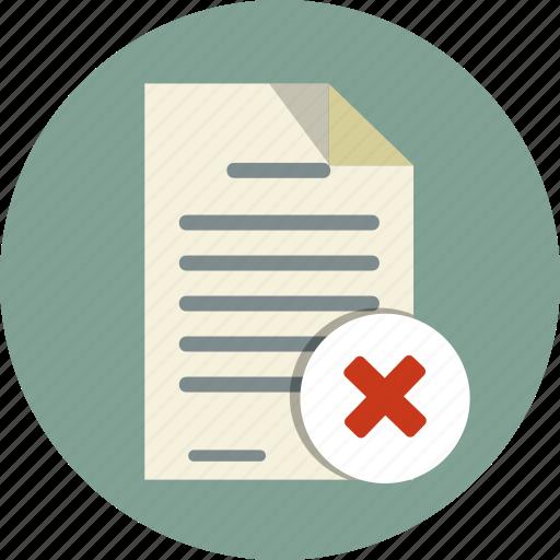 delete, document, file, note, paper, paste icon