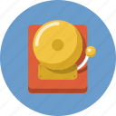 alarm, attention, emergency, fire alarm, ring, school bell, schoolbell icon