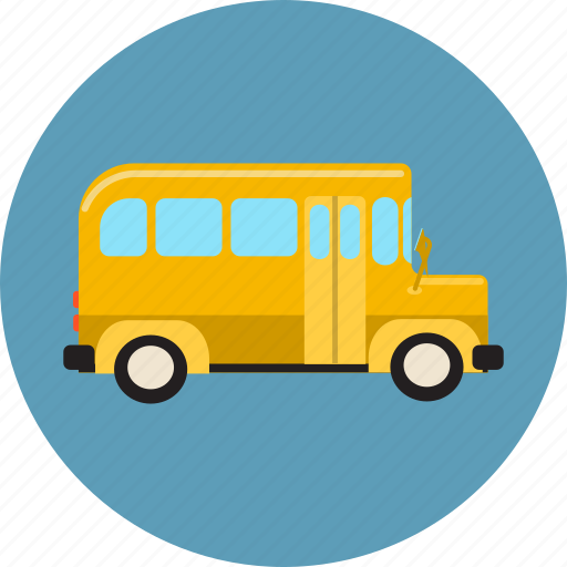 bus, driving, education, learning, school, student, transport icon