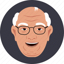 education, father, glasses, grand, man, old, user icon